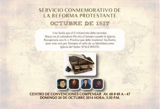 Invitación Culto de la Reforma